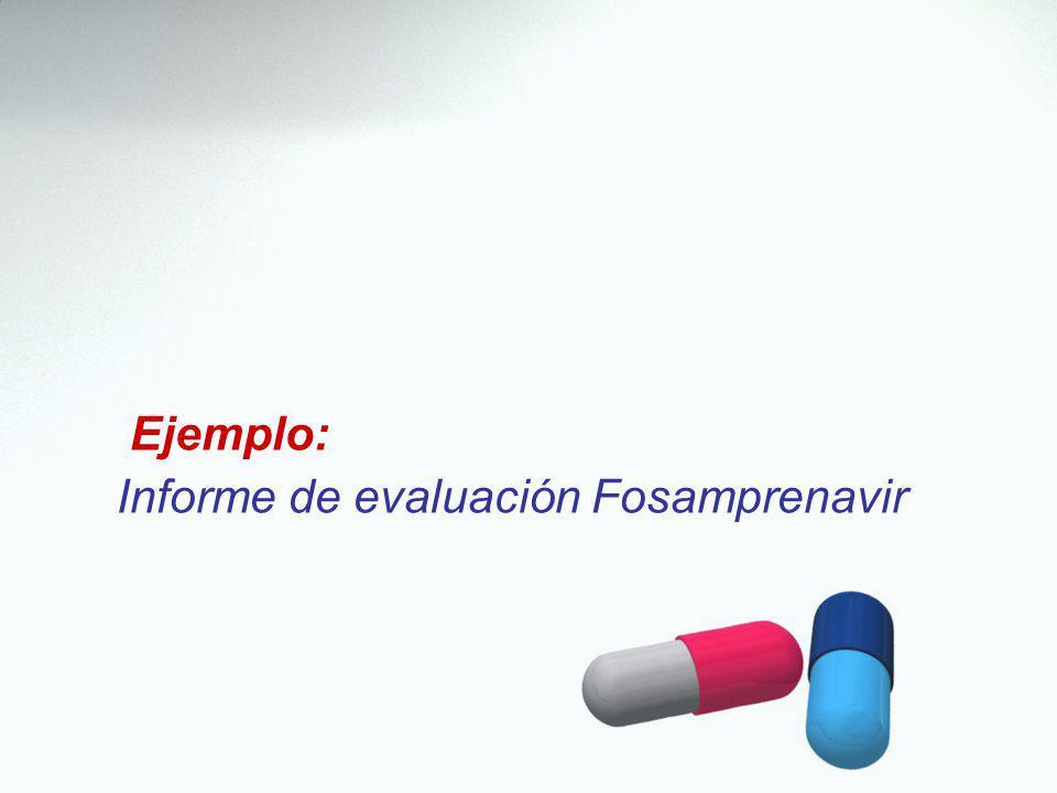 Ejemplo: Informe de evaluación Fosamprenavir