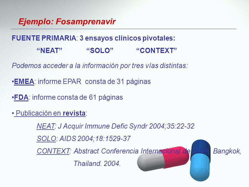 Ejemplo: Fosamprenavir