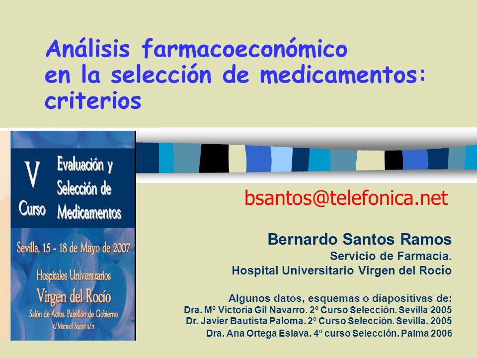 Análisis farmacoeconómico en la selección de medicamentos: criterios