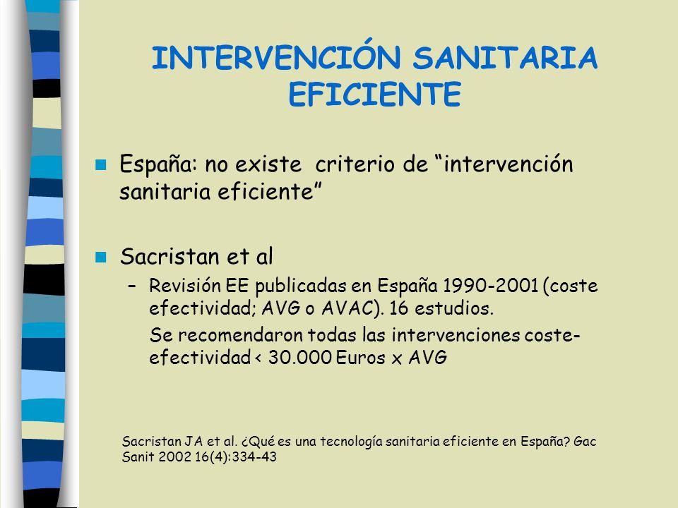 INTERVENCIÓN SANITARIA EFICIENTE