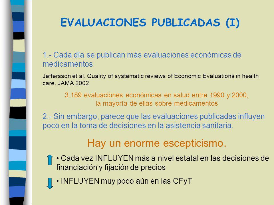 EVALUACIONES PUBLICADAS (I)