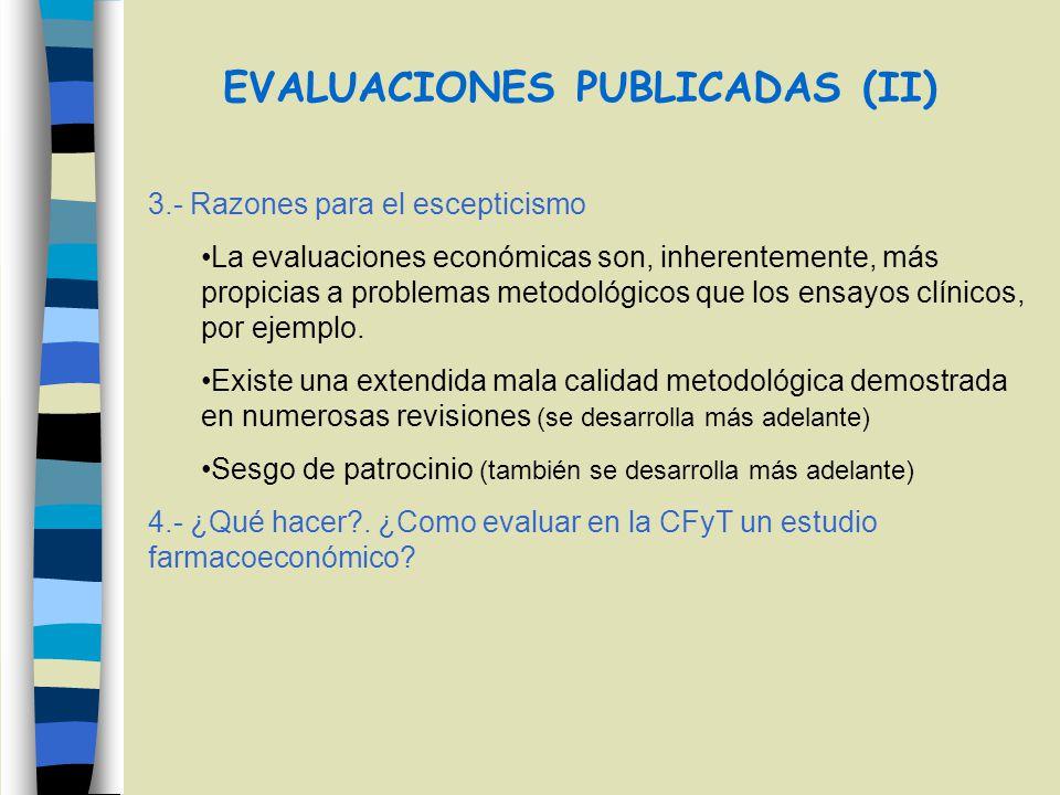 EVALUACIONES PUBLICADAS (II)