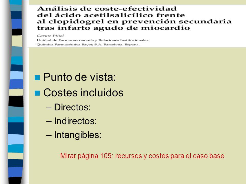 Mirar página 105: recursos y costes para el caso base