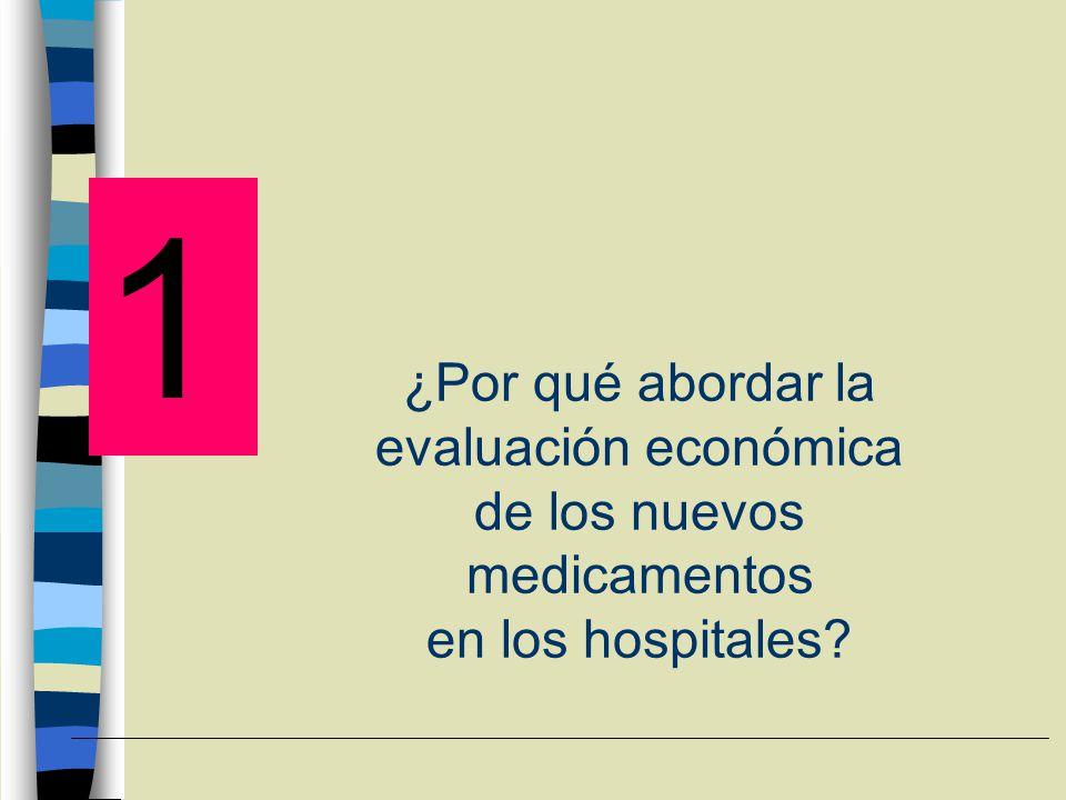 ¿Por qué abordar la evaluación económica de los nuevos medicamentos en los hospitales
