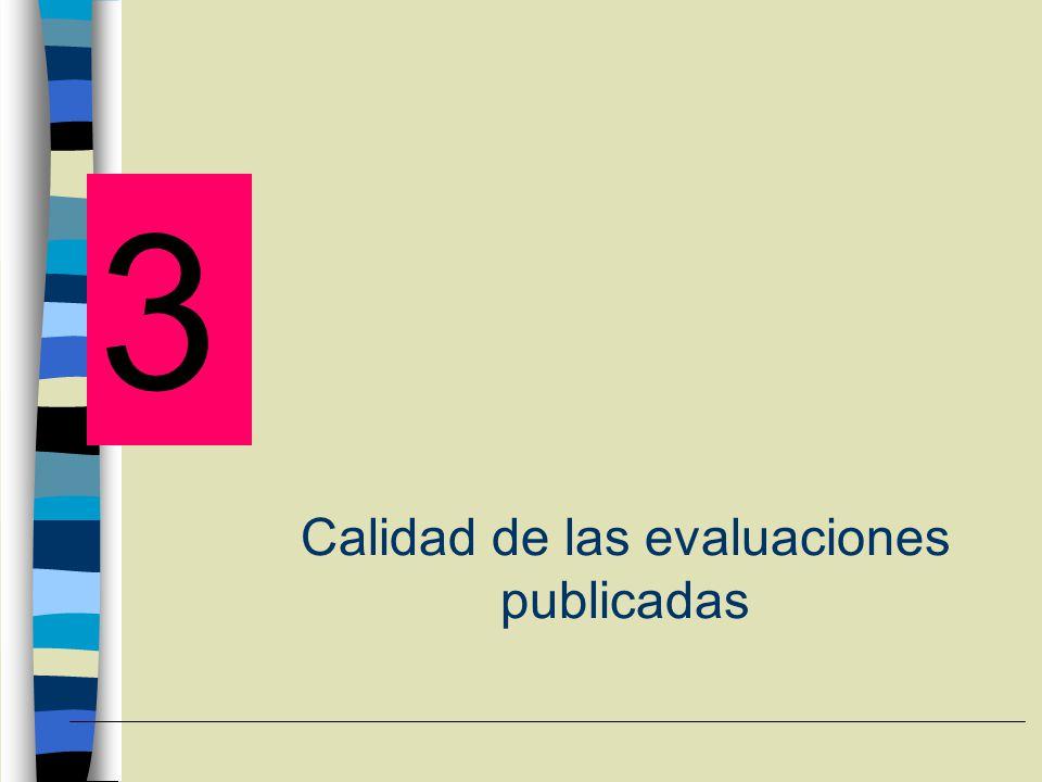 Calidad de las evaluaciones publicadas