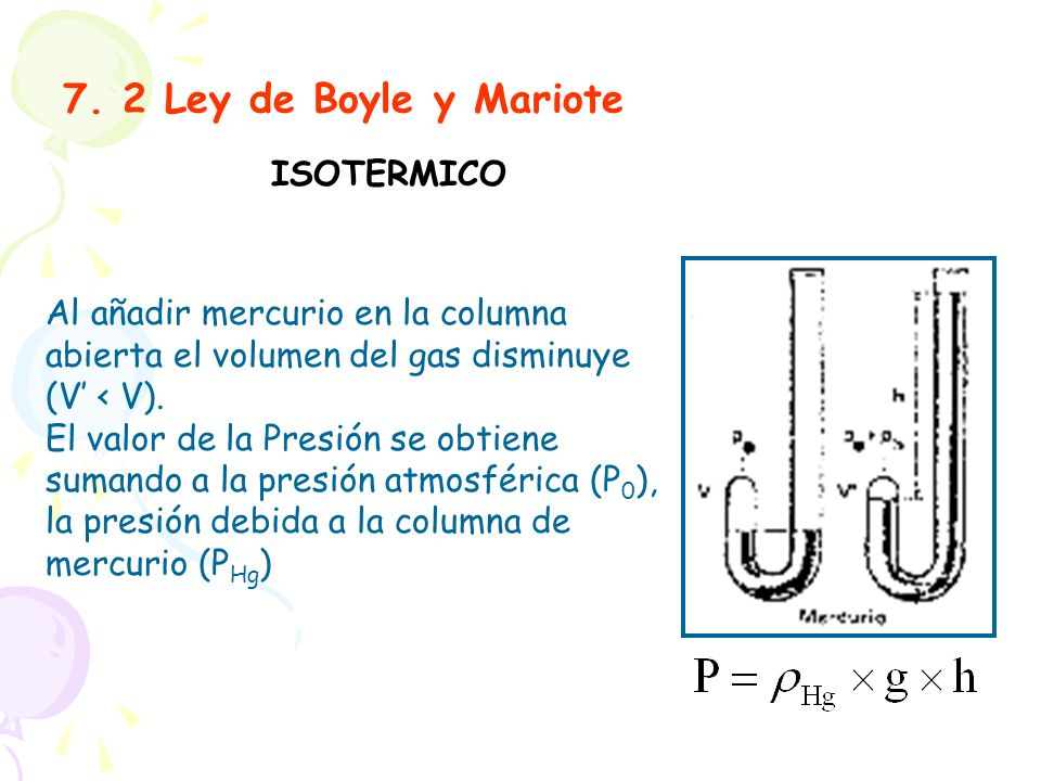 7. 2 Ley de Boyle y Mariote ISOTERMICO