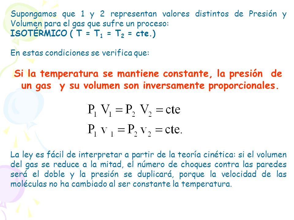 Si la temperatura se mantiene constante, la presión de