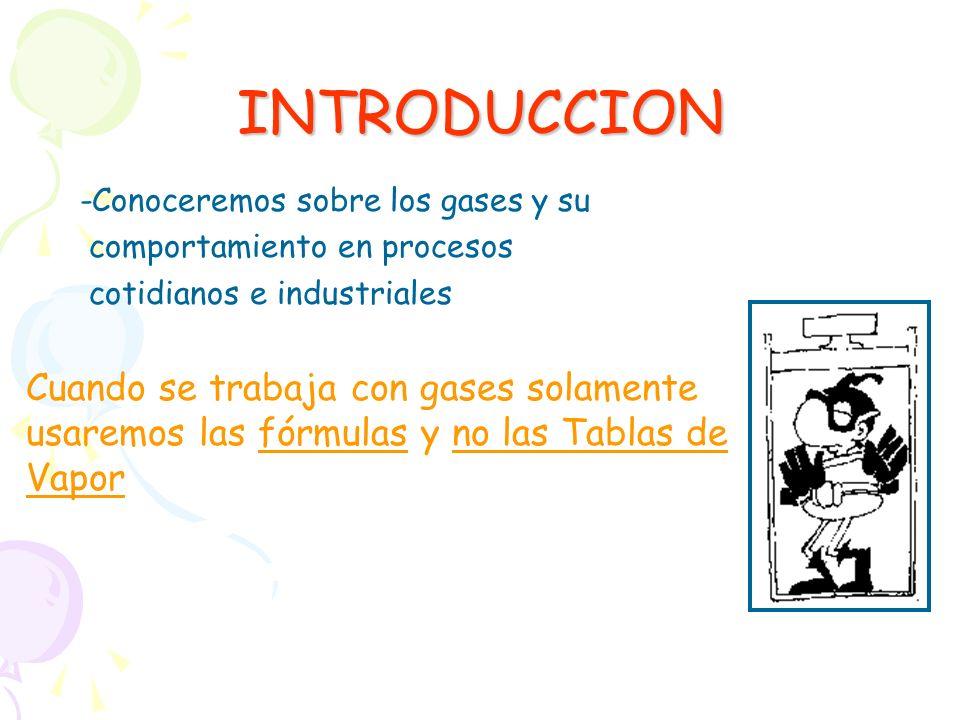 INTRODUCCION -Conoceremos sobre los gases y su. comportamiento en procesos. cotidianos e industriales.