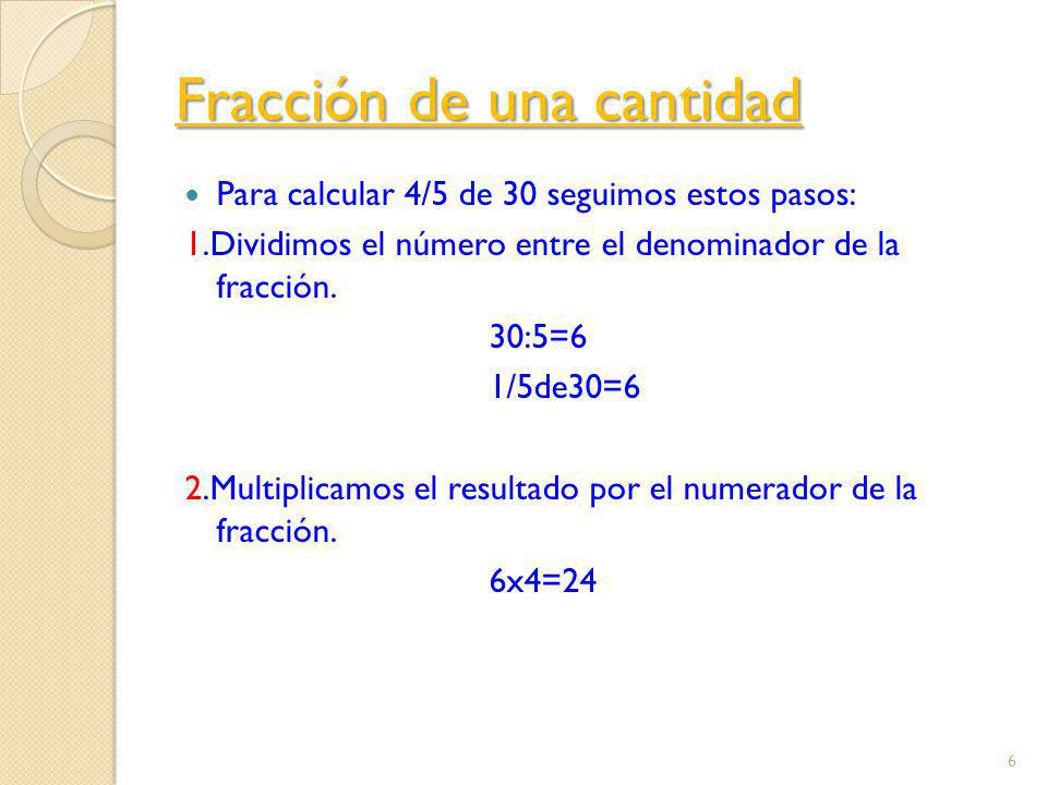 Fracción de una cantidad
