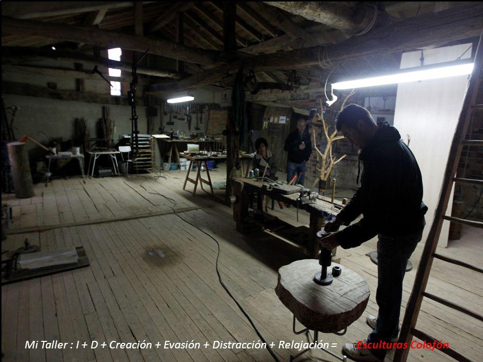 Mi Taller : I + D + Creación + Evasión + Distracción + Relajación = Esculturas Colofón