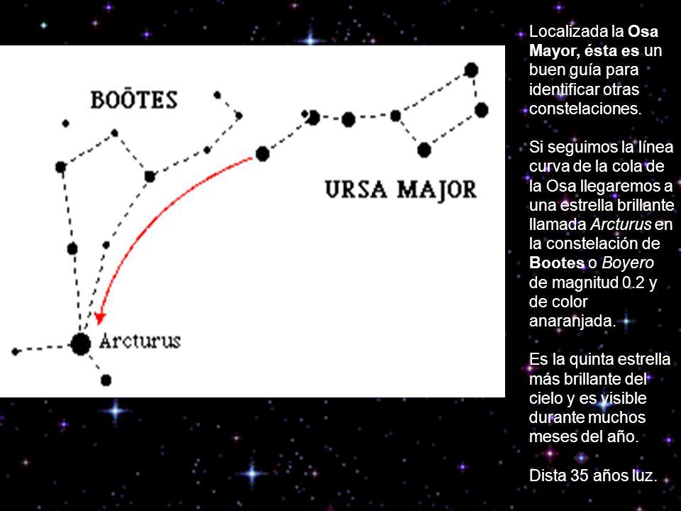Localizada la Osa Mayor, ésta es un buen guía para identificar otras constelaciones.