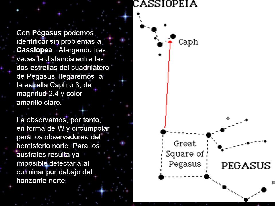 Con Pegasus podemos identificar sin problemas a Cassiopea