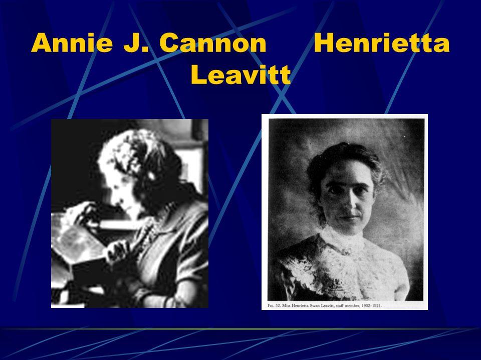 Annie J. Cannon Henrietta Leavitt