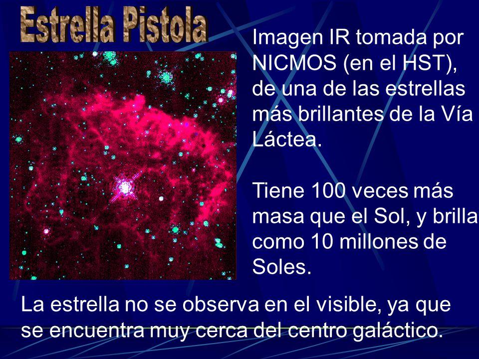 Estrella Pistola Imagen IR tomada por NICMOS (en el HST), de una de las estrellas más brillantes de la Vía Láctea.