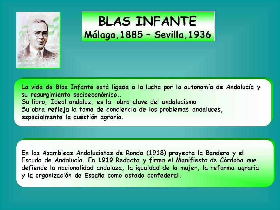 BLAS INFANTE Málaga,1885 – Sevilla,1936