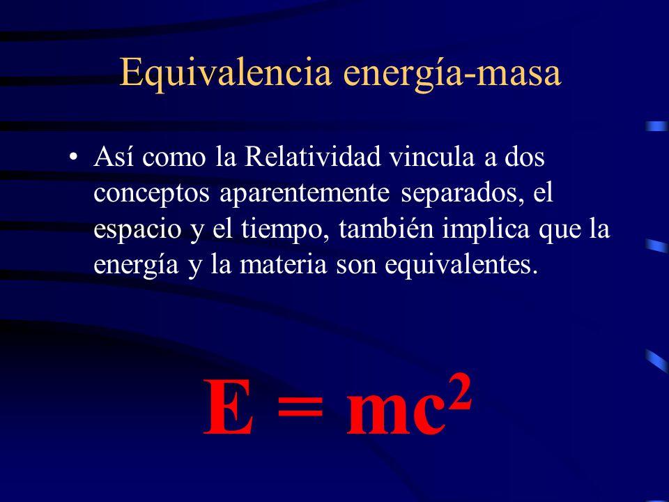 Equivalencia energía-masa