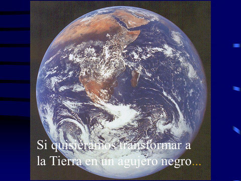 Si quisiéramos transformar a la Tierra en un agujero negro...