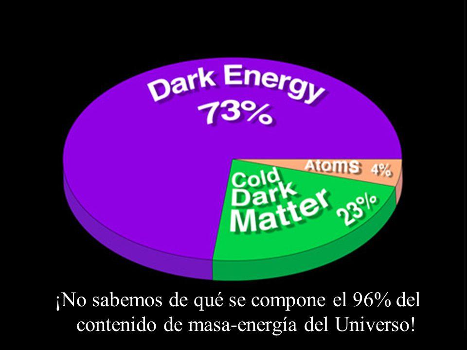 ¡No sabemos de qué se compone el 96% del contenido de masa-energía del Universo!