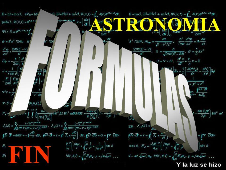 ASTRONOMIA FORMULAS FIN