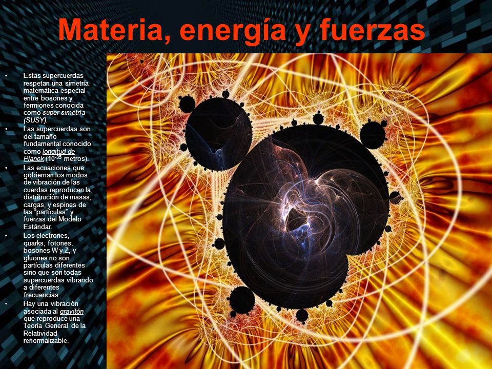 Materia, energía y fuerzas