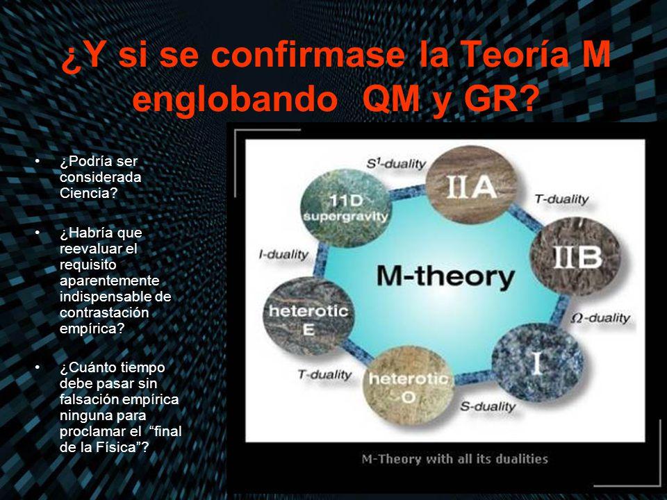 ¿Y si se confirmase la Teoría M englobando QM y GR