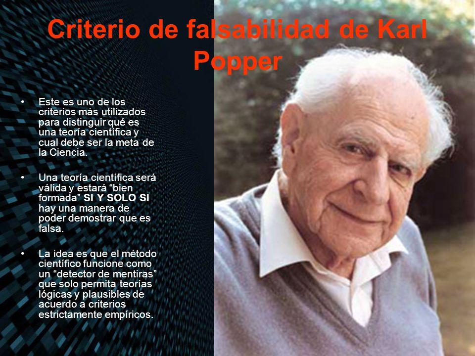 Criterio de falsabilidad de Karl Popper