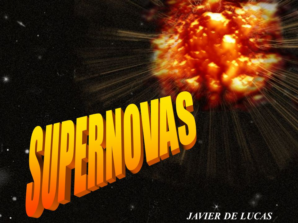 SUPERNOVAS JAVIER DE LUCAS