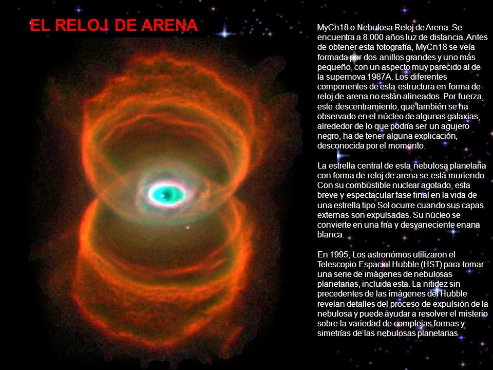 MyCn18 o Nebulosa Reloj de Arena. Se encuentra a 8
