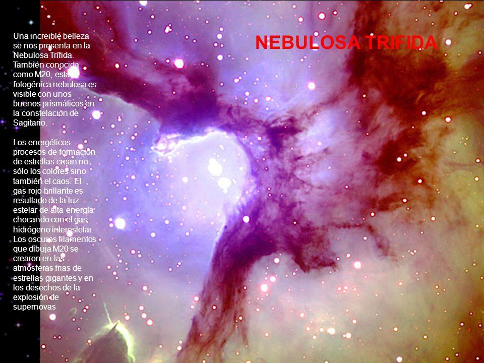 Una increible belleza se nos presenta en la Nebulosa Trífida