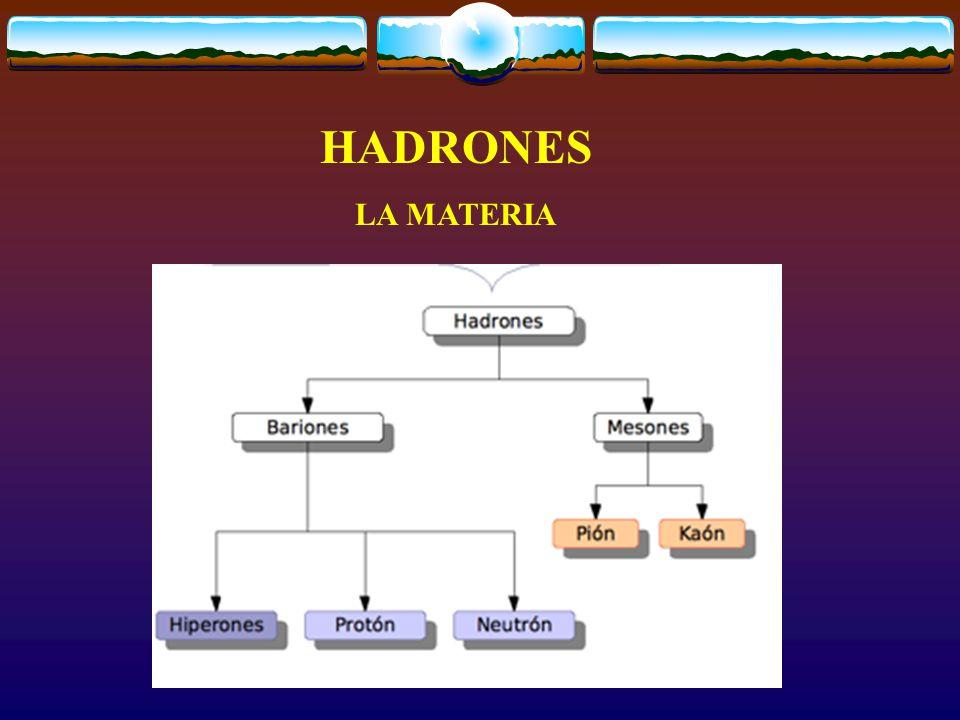HADRONES LA MATERIA
