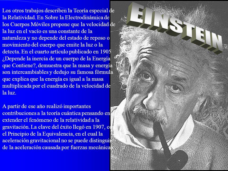 Los otros trabajos describen la Teoría especial de la Relatividad