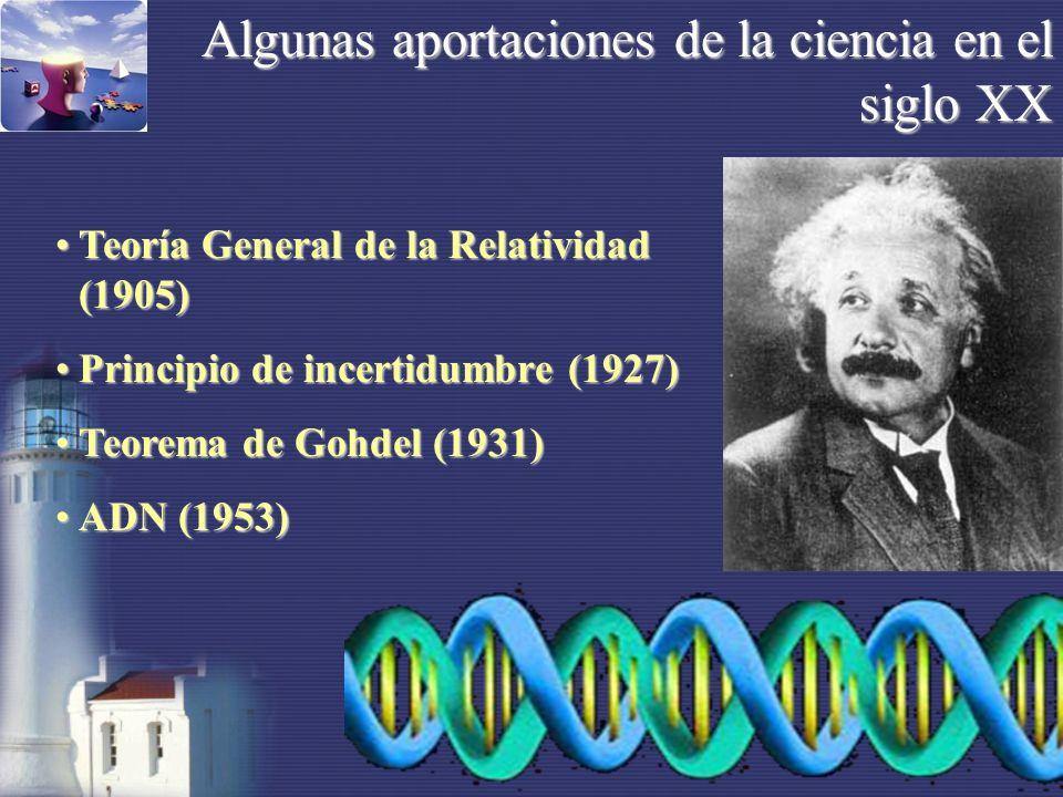 Algunas aportaciones de la ciencia en el siglo XX