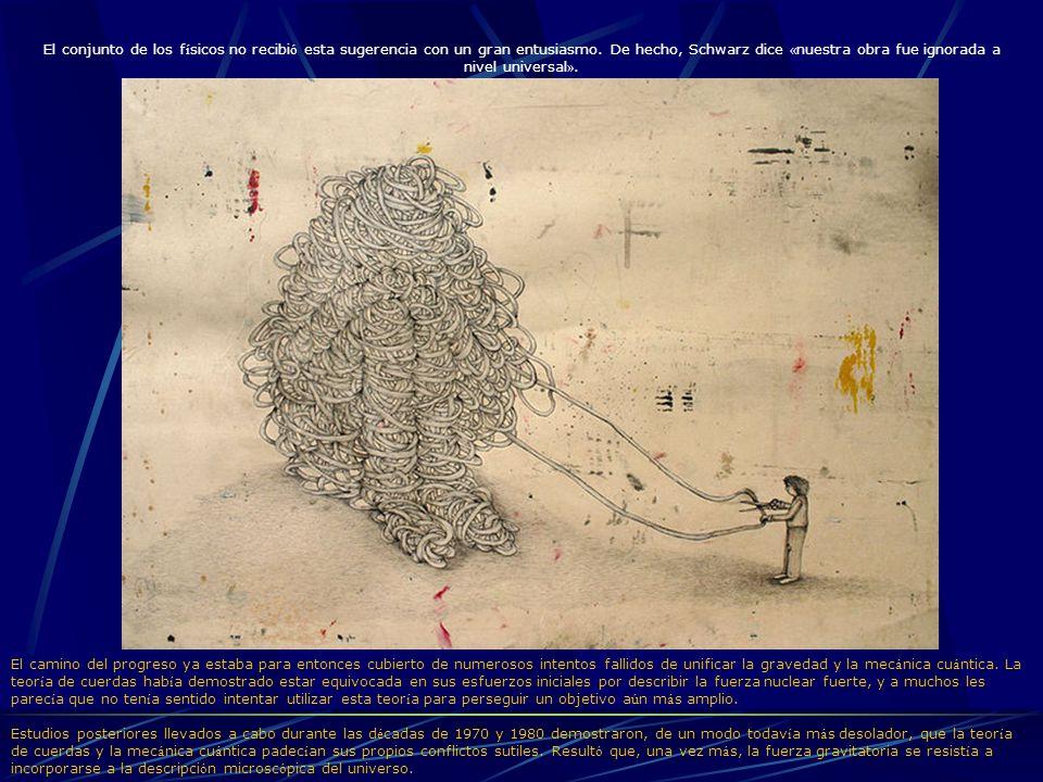 El conjunto de los físicos no recibió esta sugerencia con un gran entusiasmo. De hecho, Schwarz dice «nuestra obra fue ignorada a nivel universal».
