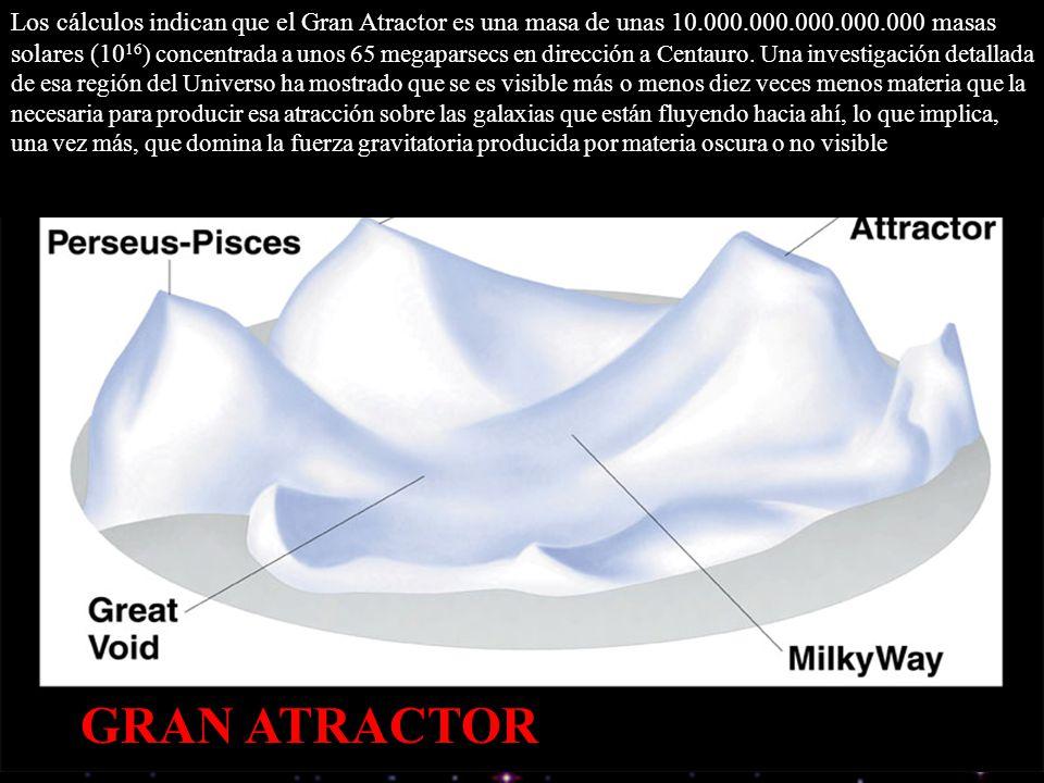 Los cálculos indican que el Gran Atractor es una masa de unas 10. 000