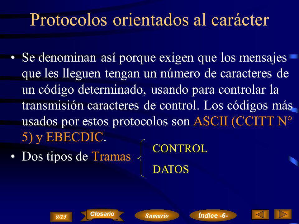 Protocolos orientados al carácter