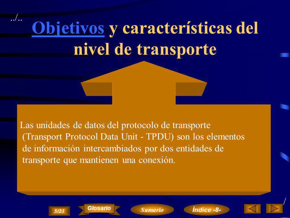 Objetivos y características del nivel de transporte