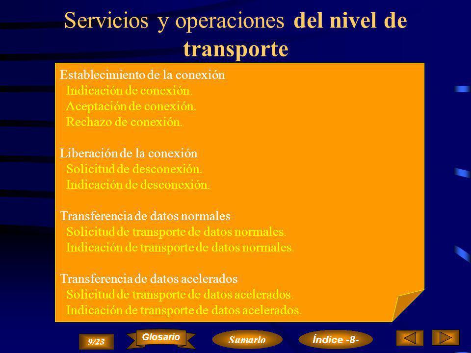 Servicios y operaciones del nivel de transporte