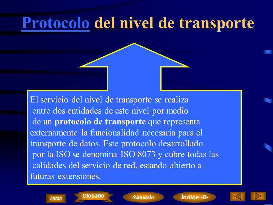 Protocolo del nivel de transporte
