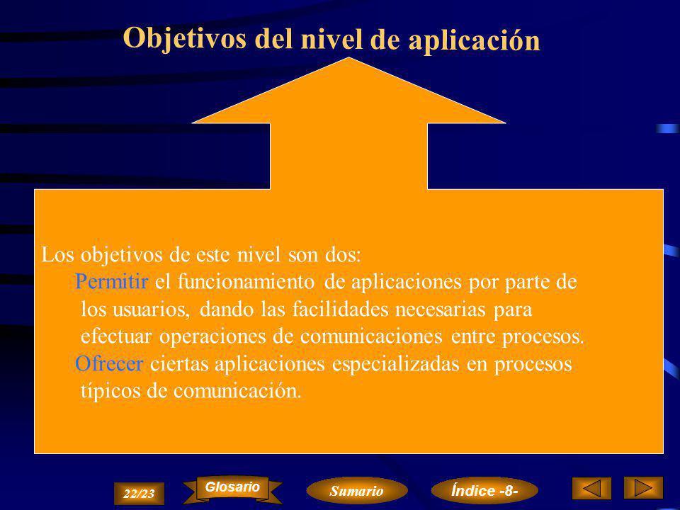Objetivos del nivel de aplicación