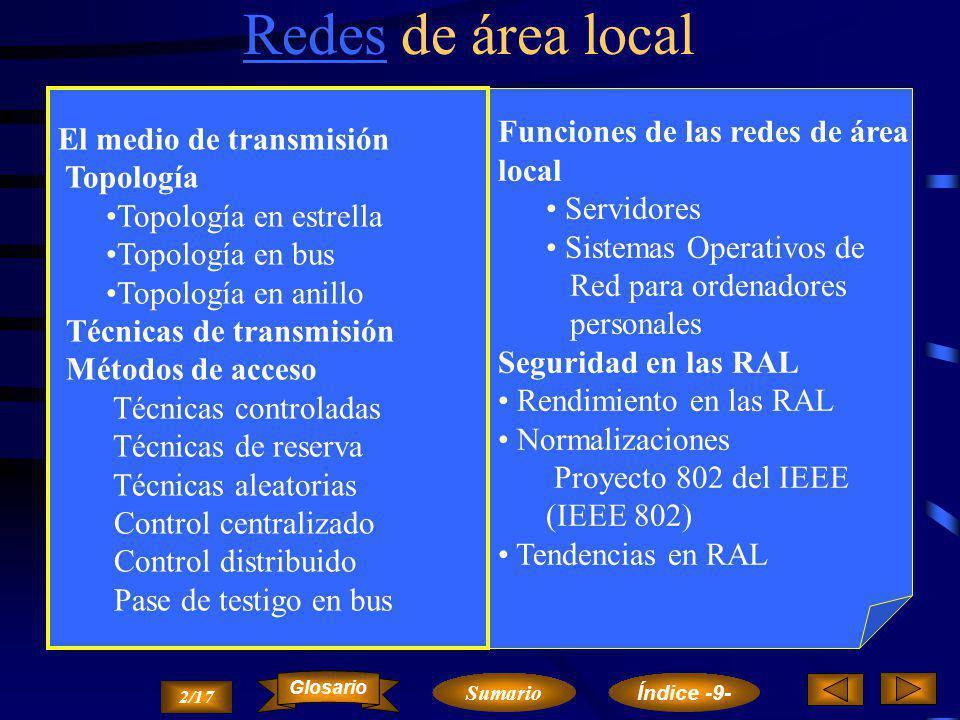 Redes de área local Funciones de las redes de área