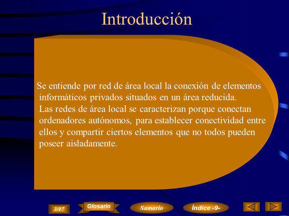 Introducción Se entiende por red de área local la conexión de elementos. informáticos privados situados en un área reducida.