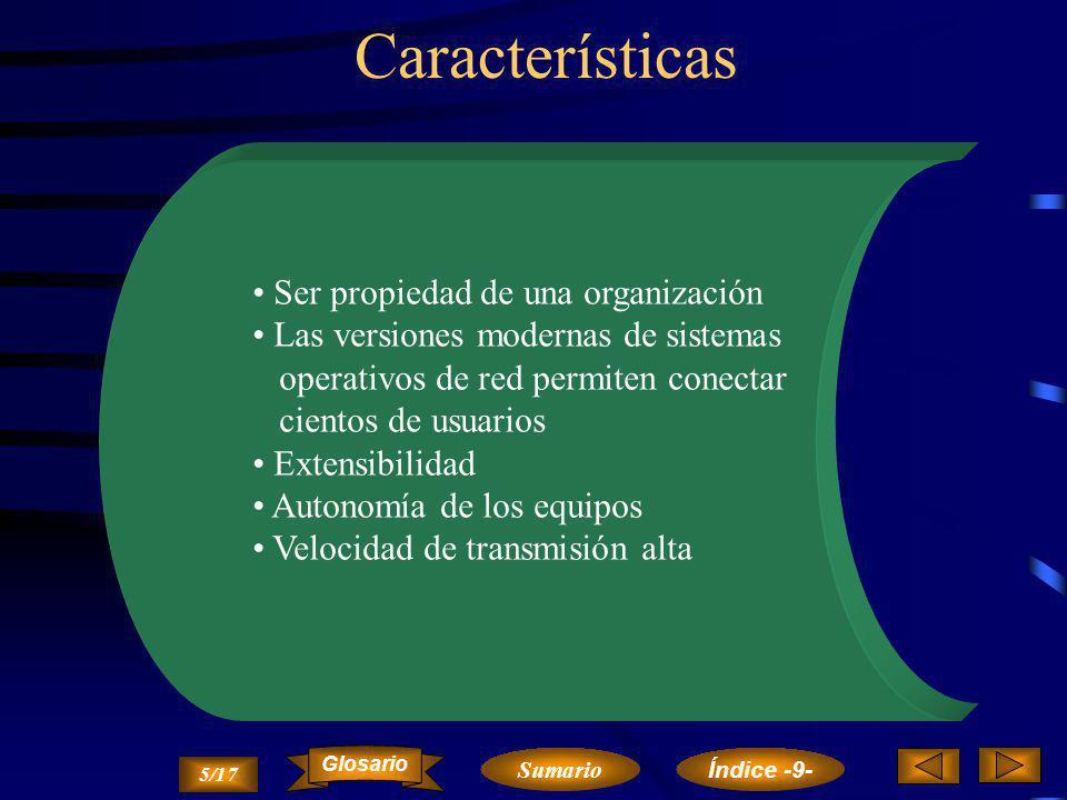 Características Ser propiedad de una organización