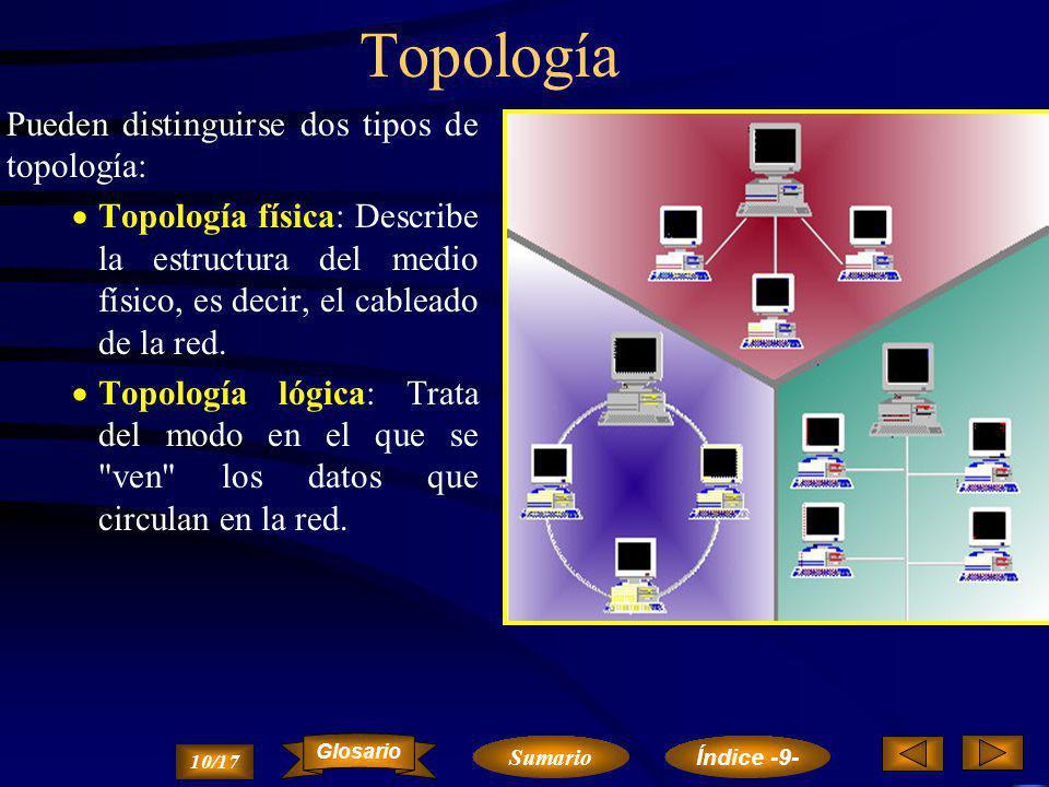 Topología Pueden distinguirse dos tipos de topología: