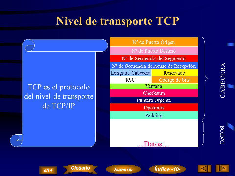Nivel de transporte TCP