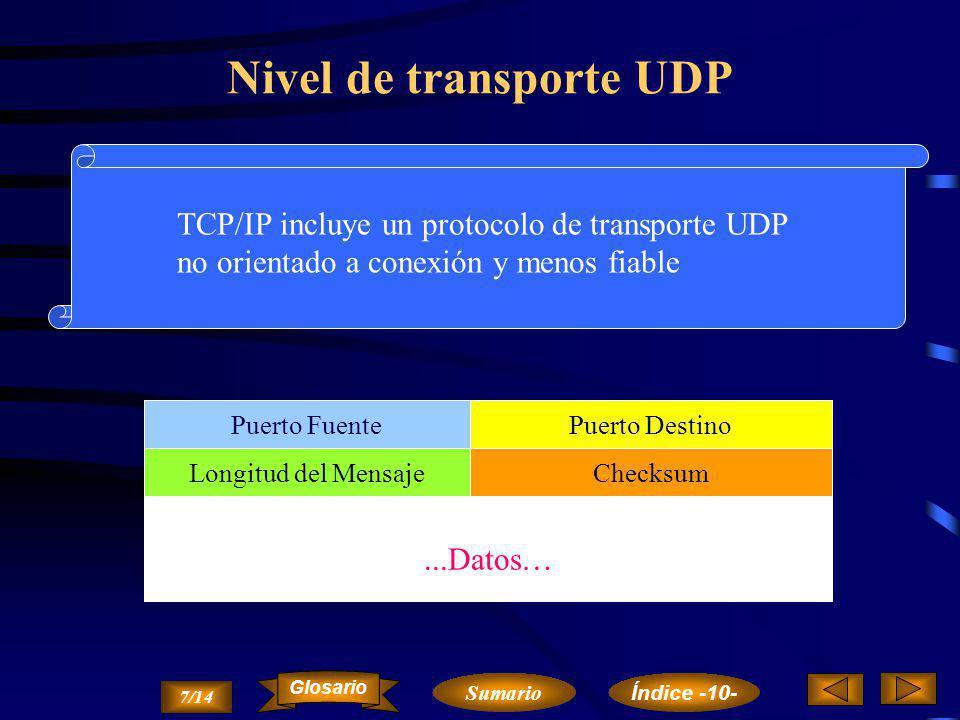 Nivel de transporte UDP
