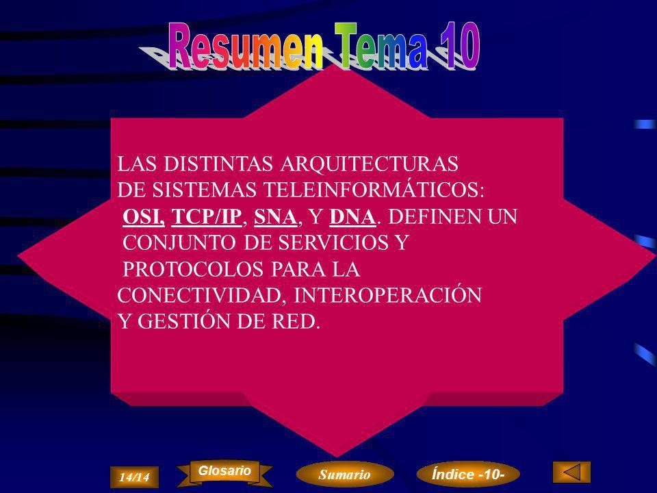 Resumen Tema 10 LAS DISTINTAS ARQUITECTURAS