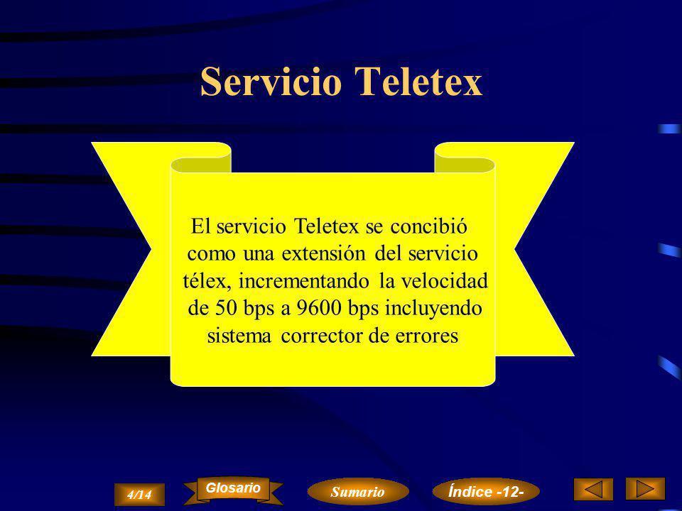 Servicio Teletex El servicio Teletex se concibió