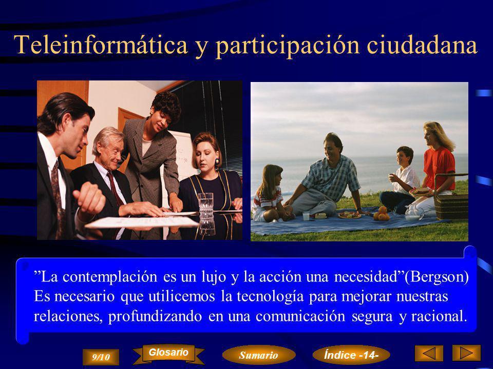 Teleinformática y participación ciudadana