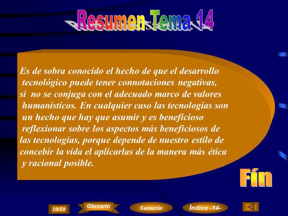 Conclusiones: Resumen Tema 14 Fín