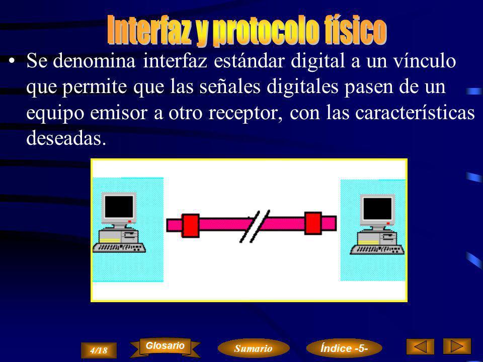 Interfaz y protocolo físico